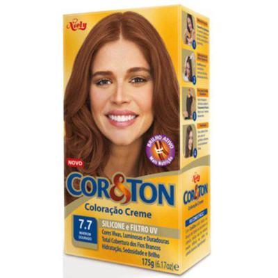 Mini Kit Tintura Cor&Ton 7.7 Marrom Dourado