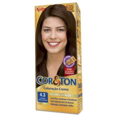 Imagem 1 do produto Tintura Cor & Ton - Cor 4.3 Castanho Médio Dourado