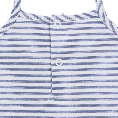 Imagem 5 do produto Vestido com Calcinha para bebe em malha Navy - Tilly Baby - TB168201 CONJ FEMININO VESTIDO C/ CALCINHA LISTRADO-P