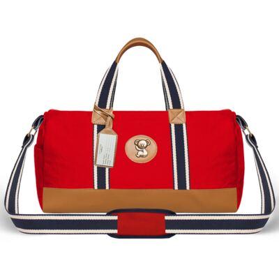 Imagem 2 do produto Bolsa Passeio para bebe + Bolsa Albany + Frasqueira Térmica Gold Coast Adventure em sarja Vermelha - Classic for Baby Bags