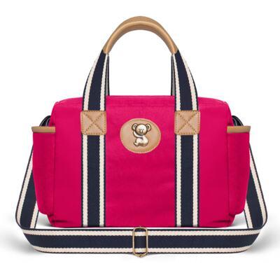Imagem 4 do produto Bolsa Passeio para bebe + Bolsa Albany + Frasqueira Térmica Gold Coast em sarja Adventure Pink - Classic for Baby Bags