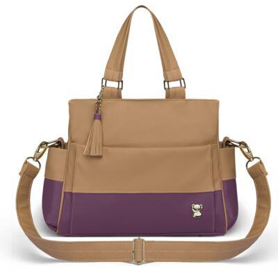Imagem 2 do produto Bolsa maternidade para bebe Genebra + Frasqueira Térmica Zurique Due Colore Uva - Classic for Baby Bags