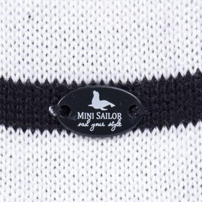 Imagem 3 do produto Macacão Pulôver c/ Casaquinho  para bebe em tricot Navy - Mini Sailor - 17994262 CASACO C/ JARDINEIRA TRICOT MARINHO -NB