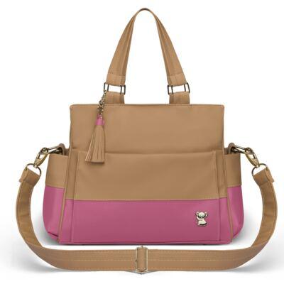 Imagem 3 do produto Mala Maternidade para bebe + Bolsa Genebra + Frasqueira Térmica Zurique + Trocador Portátil Due Colore Pink - Classic for Baby Bags