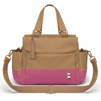 Imagem 4 do produto Mala Maternidade para bebe + Bolsa Genebra + Frasqueira Térmica Zurique + Trocador Portátil Due Colore Pink - Classic for Baby Bags