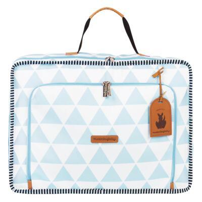 Imagem 2 do produto Mala maternidade Vintage + Bolsa 4 em 1 Sofia + Frasqueira térmica Vicky Manhattan Azul - Masterbag