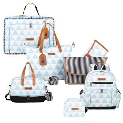 Imagem 1 do produto Mala maternidade Vintage + Bolsa 4 em 1 Sofia + Frasqueira térmica Vicky + Mochila Noah + Necessaire Manhattan Azul - Masterbag