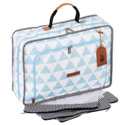 Imagem 3 do produto Mala maternidade Vintage + Bolsa 4 em 1 Sofia + Frasqueira térmica Vicky + Mochila Noah + Necessaire Manhattan Azul - Masterbag