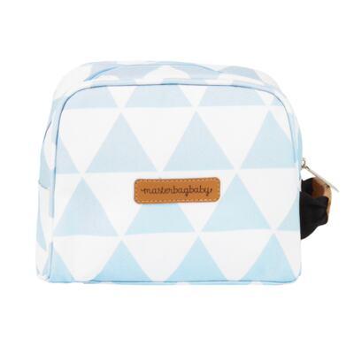 Imagem 8 do produto Mala maternidade Vintage + Bolsa 4 em 1 Sofia + Frasqueira térmica Vicky + Mochila Noah + Necessaire Manhattan Azul - Masterbag
