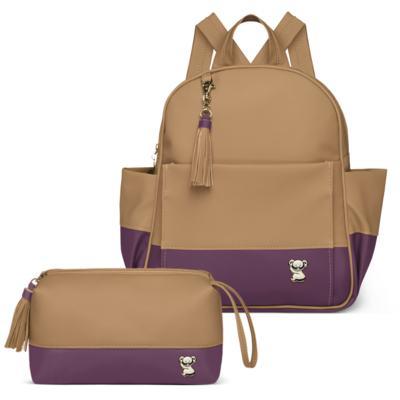 Imagem 1 do produto Mochila maternidade Davos + Necessaire Due Colore Uva -  Classic for Baby Bags