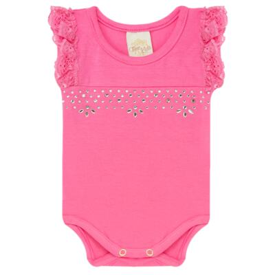 Imagem 2 do produto Body regata com shorts balonê para bebe Bubblegum - Time Kids - TK5054.PK CONJUNTO BODY E SHORTS XADREZ PINK-M