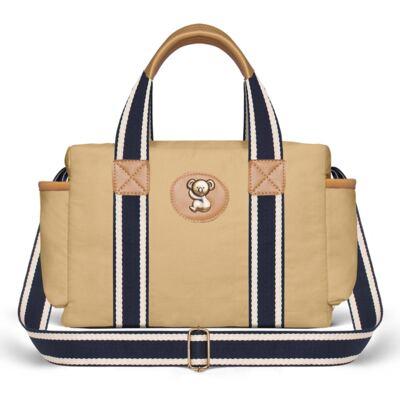 Imagem 3 do produto Bolsa Passeio para bebe + Bolsa Albany + Térmica Gold Coast + Trocador + Porta Mamadeira em sarja Adventure Caramelo - Classic for Baby Bags