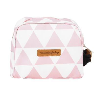 Imagem 8 do produto Mala maternidade com Rodízio + Bolsa Sofia 4 em 1 + Frasqueira térmica Vicky + Mochila Noah + Necessaire para bebe Manhattan Rosa - Masterbag