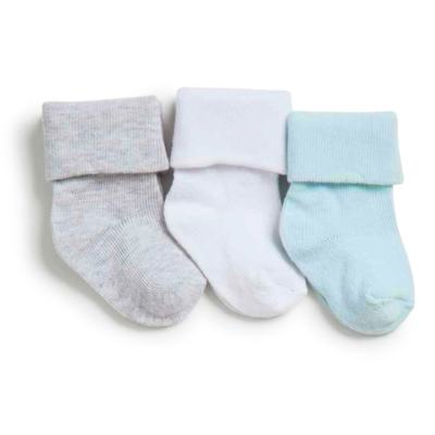 Imagem 1 do produto Kit com 3 meias Soquete para bebe Azul - Puket