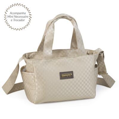Imagem 4 do produto Bolsa Anne + Frasqueira Alice para bebe Paris Ouro - Masterbag
