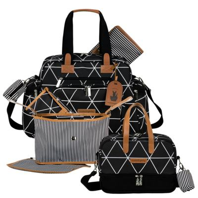 Imagem 1 do produto Bolsa Everyday + Frasqueira térmica Vicky + Frasqueira Organizadora Manhattan Preto - Masterbag
