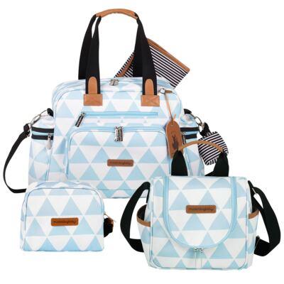Imagem 1 do produto Bolsa Everyday  + Frasqueira térmica Emy + Necessaire Manhattan Azul - Masterbag