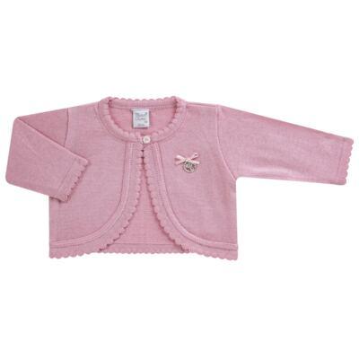 Imagem 5 do produto Macacão c/ Bolero para bebe em algodão egípcio Florale - Mini & Classic - 21664172 MACACAO ML  CASACO SUEDINE/TR FLORAL-RN