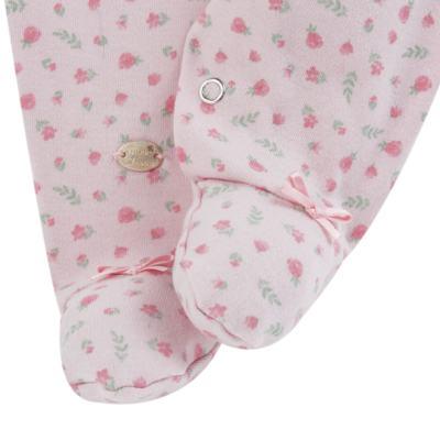 Imagem 4 do produto Macacão c/ Bolero para bebe em algodão egípcio Florale - Mini & Classic - 21664172 MACACAO ML  CASACO SUEDINE/TR FLORAL-P