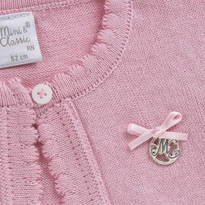 Imagem 6 do produto Macacão c/ Bolero para bebe em algodão egípcio Florale - Mini & Classic - 21664172 MACACAO ML  CASACO SUEDINE/TR FLORAL-P