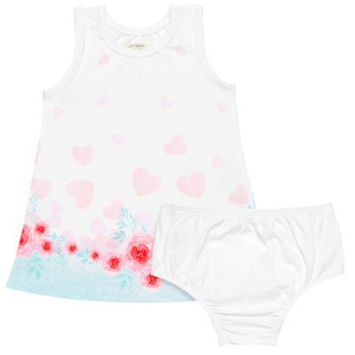 Imagem 1 do produto Vestido com Calcinha em neoprene para bebe Cactus Flower - Petit - 14574300 VESTIDO REGATA NEW COMPAC LOVE CACTUS-2