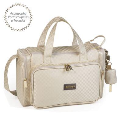 Imagem 2 do produto Bolsa Anne + Frasqueira Alice + Mochila maternidade Paris Ouro - Masterbag