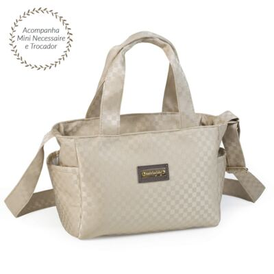 Imagem 4 do produto Bolsa Anne + Frasqueira Alice + Mochila maternidade Paris Ouro - Masterbag