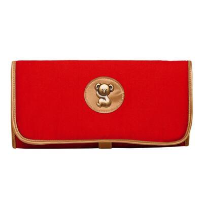 Imagem 3 do produto Mochila maternidade + Trocador + Porta mamadeira Adventure em sarja Vermelha - Classic for Baby Bags