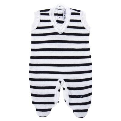 Imagem 2 do produto Macacão Pulôver c/ Casaquinho  para bebe em tricot Navy - Mini Sailor - 17994262 CASACO C/ JARDINEIRA TRICOT MARINHO -9-12