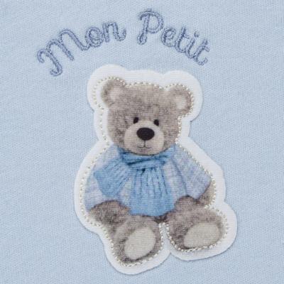 Imagem 3 do produto Regata c/ Cobre fralda para bebe em algodão egípcio Chevalier - Petit - 17944167 CONJ REGATA C/ COBRE FRALDA SUED/VISCO URSO -RN