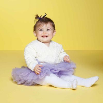 Imagem 3 do produto Meia calça para bebê em algodão Branco - Puket - PK2401L-B MEIA CALCA BABY LISA BRANCO-6-12 meses