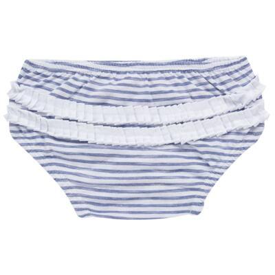 Imagem 7 do produto Vestido com Calcinha para bebe em malha Navy - Tilly Baby - TB168201 CONJ FEMININO VESTIDO C/ CALCINHA LISTRADO-1