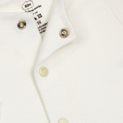 Imagem 2 do produto Casaco para bebe em algodão egípcio Marfim - Bibe - 10M03-115 CS CASACO BASICO CRISTAL MARFIM-P