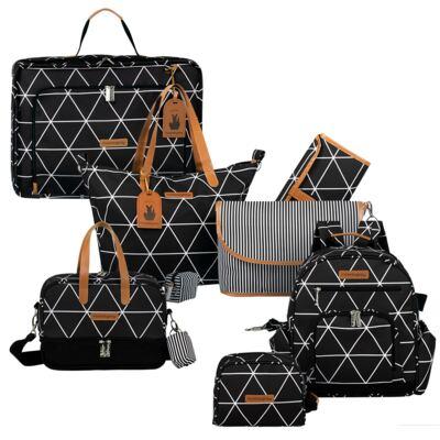 Imagem 1 do produto Mala maternidade Vintage + Bolsa 4 em 1 Sofia + Frasqueira térmica Vicky + Mochila Noah + Necessaire Manhattan Preta - Masterbag