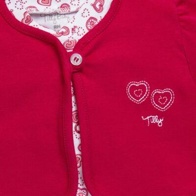 Imagem 2 do produto Macacão longo com Casaco em algodão egípcio Little Hearts - Tilly Baby - TB168162 MACACAO C/ CASACO FEM SUEDINE CORAÇÕES-M