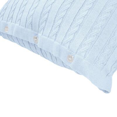 Imagem 9 do produto Kit Berço: Rolinhos Laterais + Rolinho Cabeceira + Almofada Quadrada + Manta em tricot trançado Mon Petit - Petit