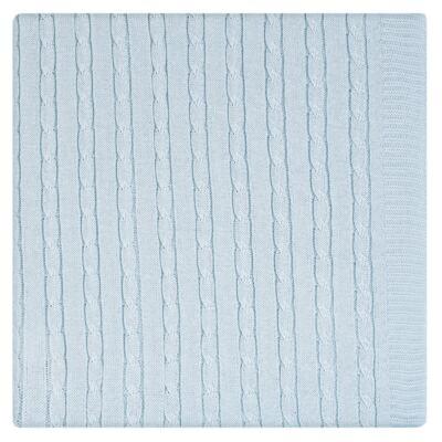 Imagem 11 do produto Kit Berço: Rolinhos Laterais + Rolinho Cabeceira + Almofada Quadrada + Manta em tricot trançado Mon Petit - Petit