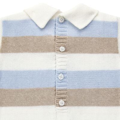 Imagem 3 do produto Macacão c/ golinha para bebe em tricot Mon Petit - Petit - 21884281 MACACAO C/ GOLA TRICOT AZUL BEBE-G