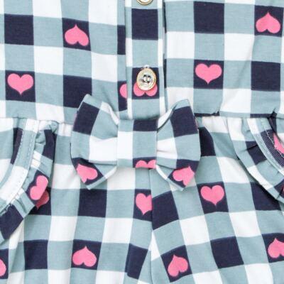 Imagem 2 do produto Macaquinho regata para bebe em cotton Bubblegum - Time Kids - TK5057.AZ MACAQUINHO XADREZ AZUL-G