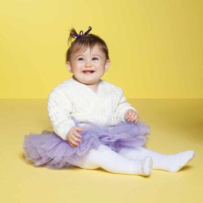 Imagem 3 do produto Meia calça para bebê em algodão Branco - Puket - PK2401L-B MEIA CALCA BABY LISA BRANCO-3-4 anos