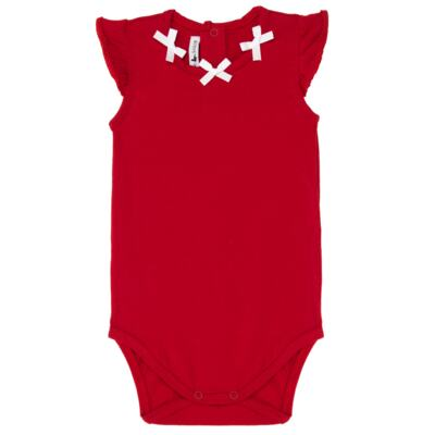 Imagem 2 do produto Body regata c/ Shorts para bebe em cotton Liberty - Mini Sailor - 17374443 CONJ. BODY C/SHORTS COTTON VERMELHO-3-6