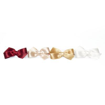 Imagem 1 do produto Kit: 4 Maxi Laços adesivos Dourado/Bordô/Bege/Marfim - Roana
