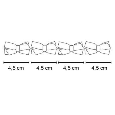 Imagem 2 do produto Kit: 4 Maxi Laços adesivos Dourado/Bordô/Bege/Marfim - Roana