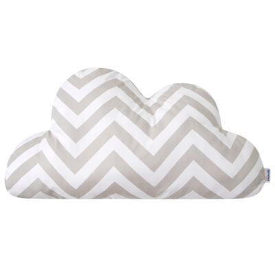 Imagem 1 do produto Almofada para bebe Nuvem Brooklyn - Biramar Baby - 34028-2529 Almofada Nuvem - Chevron Cinza