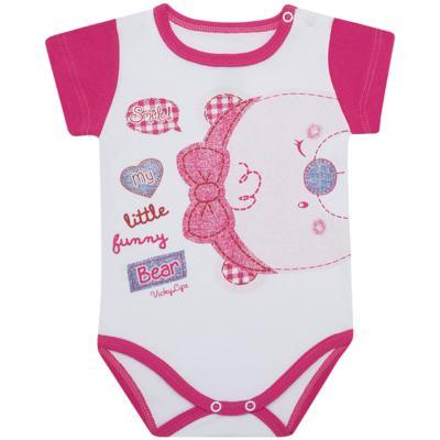Imagem 1 do produto Body curto para bebe em suedine Grizzy Bear - Vicky Lipe - BCD572 BODY MC SUEDINE URSA-P