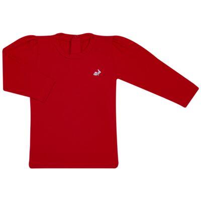 Imagem 1 do produto Blusinha longa em cotton Vermelha  - Missfloor - 58LB0003.311 BLUSINHA M/L - COTTON-3