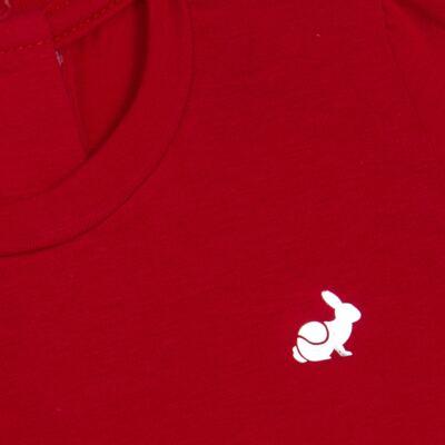Imagem 2 do produto Blusinha longa em cotton Vermelha  - Missfloor - 58LB0003.311 BLUSINHA M/L - COTTON-3