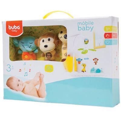 Imagem 1 do produto Móbile Musical para Bebe Jungle Friends (3m+) - Buba - BUBA6683 MÓBILE BABY