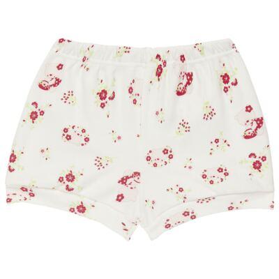 Imagem 4 do produto Body curto com Shorts para bebe em suedine Flowery Bear - Vicky Lipe - CSH1360 BODY M/C C/ SHORTS SUEDINE URSA FLORAL-P