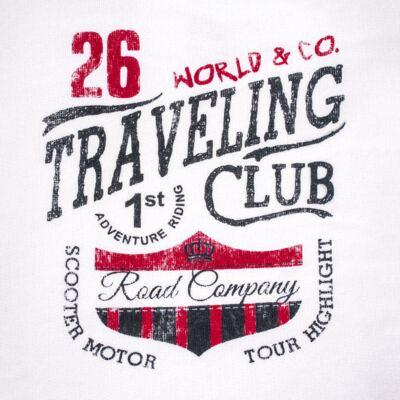Imagem 3 do produto Blusão com Calça para bebe em moletom Traveling - Mini Mix - LTCM08 CONJUNTO MOLETOM TRAVELING BRANCO/MARINHO -M